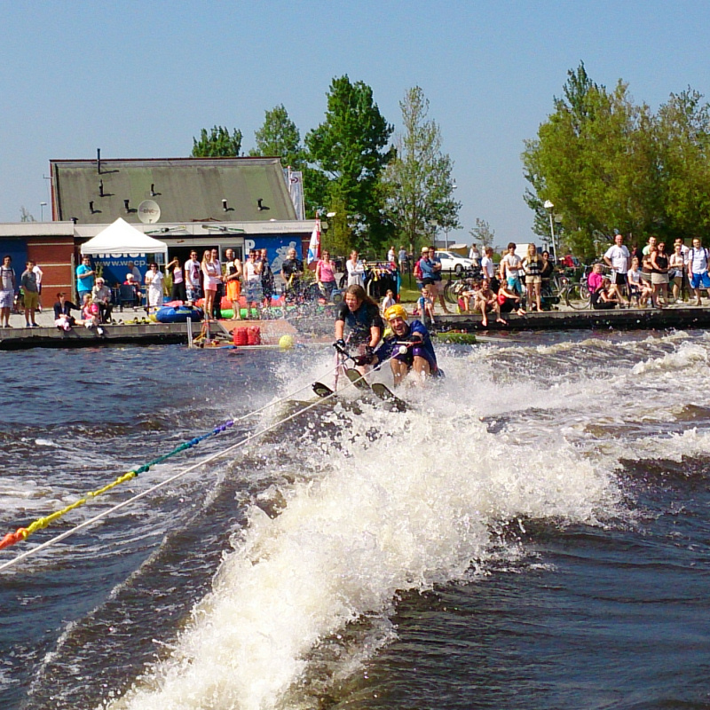Waterskiën is feest