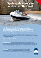 Spelregels in Nederland voor het snelvaren, om te kunnen waterskiën, of wakeboarden achter een boot