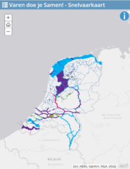 Kaart Nederland snelvaargebieden - Waterskiën en wakeboarden achter je eigen boot